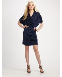Catherine Malandrino | Blue Wrap-effect Silk-jersey Dress | Lyst