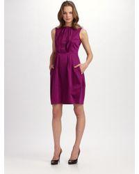 Lavia18   Purple Stretch Poplin Dress   Lyst