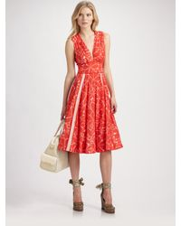 Marc By Marc Jacobs | Red Sabine Flower Dress | Lyst