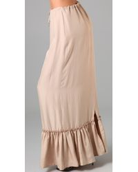 Twelfth Street Cynthia Vincent - Natural Drawstring Waist Long Skirt - Lyst