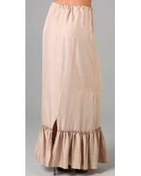 Twelfth Street Cynthia Vincent | Natural Drawstring Waist Long Skirt | Lyst