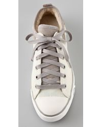 UGG - Natural Evera Lace Up Sneakers - Lyst