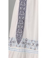 Alice By Temperley - White Aline Embroidered Cotton Maxi Dress - Lyst