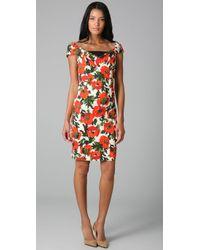 MILLY - Red Eva Rose Garden Dress - Lyst
