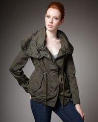 Moncler - Green Nylon Drawstring Jacket - Lyst