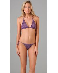 Tibi - Purple Malawi String Bikini Top - Lyst