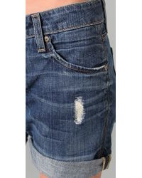 VINCE | Blue Vagabond Shorts | Lyst