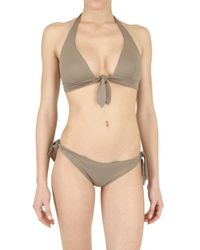Playa Di Roberta Corti | Brown Bow Bra Bathing Suit | Lyst