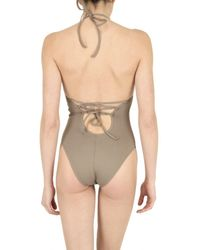 Playa Di Roberta Corti - Brown Padded Bra Bathing Suit - Lyst