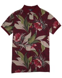 Polo Ralph Lauren - Purple Red Floral Print Polo Shirt for Men - Lyst
