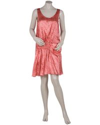 Rue du Mail | Pink Sleeveless Printed Dress | Lyst