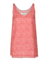 Rue du Mail | Red Sleeveless Printed Tank Top | Lyst