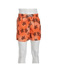 Vilebrequin | Orange Hawaii Turtle Print Moorea Swim Trunks for Men | Lyst