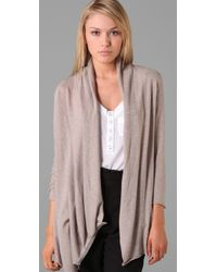Alice + Olivia | Brown Scout Wrap Around Cardigan | Lyst