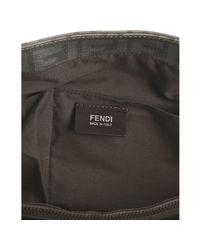Fendi - Gray Asphalt Zucca Spalmati Messenger Bag for Men - Lyst