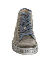 Frye - Blue Leather Greene Tall Lace Sneakers for Men - Lyst