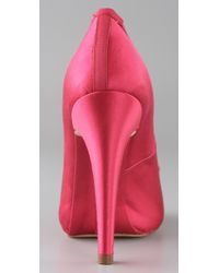 INTROPIA - Pink Tapered Toe Satin Pumps - Lyst