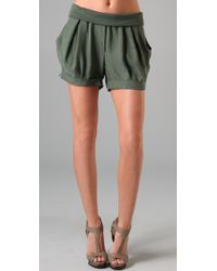 James Jeans - Green Icon Petal Shorts - Lyst