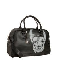 John Varvatos | Black Coated Canvas Skull Print Duffel for Men | Lyst