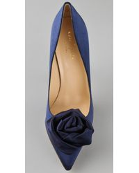 kate spade new york - Blue Lilah Tapered Toe Pumps - Lyst