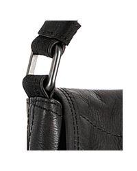 Lanvin - Black Calfskin and Nylon Patchwork Messenger Bag for Men - Lyst
