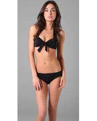 Lisa Curran - Black Brittany Retro Bikini Top - Lyst
