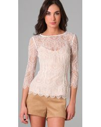 Lover - White The Muse Lace Blouse - Lyst
