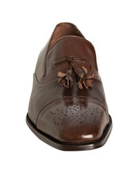 Mezlan - Brown Leather Chad Cap Toe Loafers for Men - Lyst