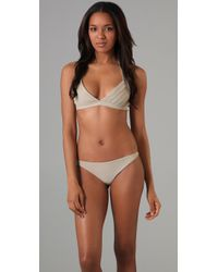 Mikoh Swimwear | Natural Barbados Bikini Top | Lyst