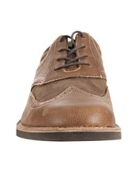 Original Penguin | Brown Drago Leather Tooled Willie Oxfords for Men | Lyst