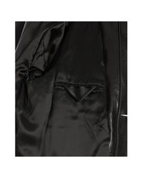 Prada | Black Leather Button Front Bomber Jacket for Men | Lyst