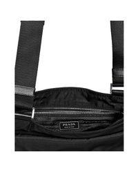 Prada - Black Nylon Front Pocket Messenger Bag for Men - Lyst
