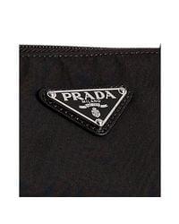 Prada - Black Nylon Leather Detail Travel Tote for Men - Lyst