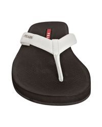 Prada | Sport White And Black Leather Thong Flip Flops With Carry Case for Men | Lyst