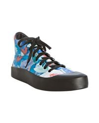 Y-3 | Adidas Black Floral Shudan Mid-top Sneakers for Men | Lyst