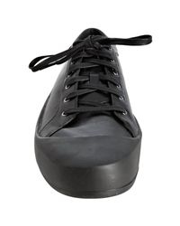 Y-3 - Adidas Black Leather Sokuo Sneakers for Men - Lyst