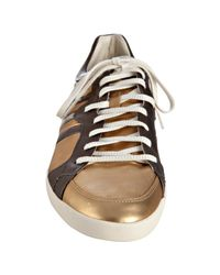 Y-3 - Metallic Adidas Gold and Bronze Leather Sala Sneakers for Men - Lyst