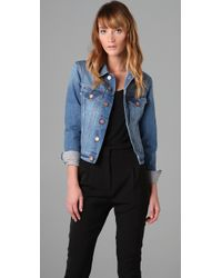 Acne | Blue Tag Milk Denim Jacket | Lyst