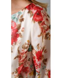Alice + Olivia - Natural Brenna Bell Sleeve Dress - Lyst