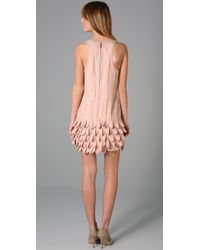 Alice + Olivia - Pink Ruffle Skirt Tank Dress - Lyst