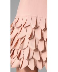 Alice + Olivia | Pink Ruffle Skirt Tank Dress | Lyst