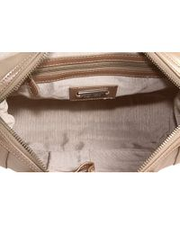 Badgley Mischka | Natural Cherise Metallic Satchel | Lyst