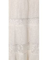 BCBGMAXAZRIA | White Carly Layered Lace Gown | Lyst