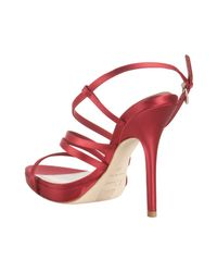 Dior - Red Strappy Satin Sandal - Lyst