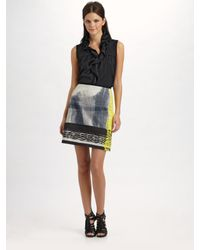 Elie Tahari | Multicolor Elva Cotton Sateen Skirt | Lyst