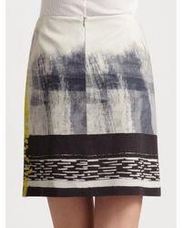 Elie Tahari - Multicolor Elva Cotton Sateen Skirt - Lyst