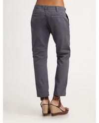 J Brand - Green Inez Cropped Chino Pants - Lyst