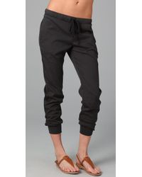 James Perse | Gray Pull On Sweatpant | Lyst