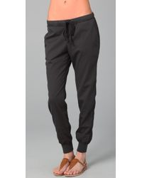 James Perse - Gray Pull On Sweatpant - Lyst