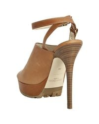 Jimmy Choo | Brown Tan Leather Chase Platform Mules | Lyst